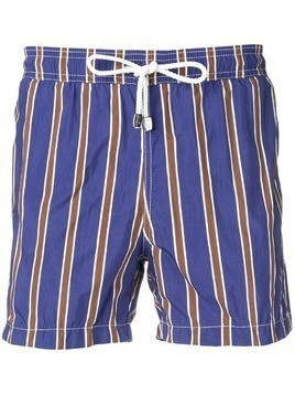 Borrelli striped swim shorts - Blue