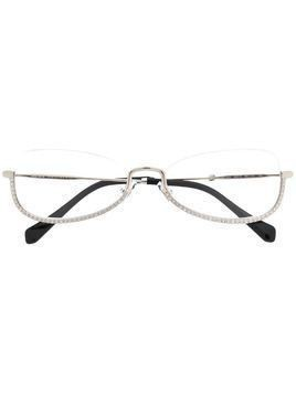 Miu Miu Eyewear embellished square frame glasses - Metallic