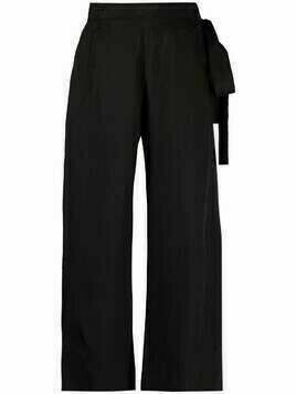 Masnada cropped flared-leg trousers - Black