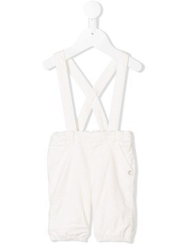 Tartine Et Chocolat cross-over strap dungarees - White