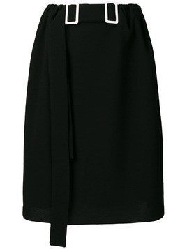 Edeline Lee double-buckle pencil skirt - Black