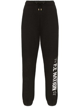 P.E Nation Downclimb logo-printed sweatpants - Black