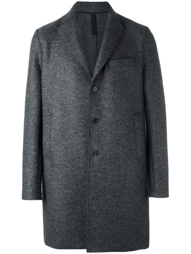Harris Wharf London single breasted mid coat - Grey