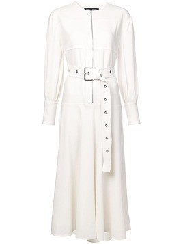 Proenza Schouler belted long-sleeve dress - White