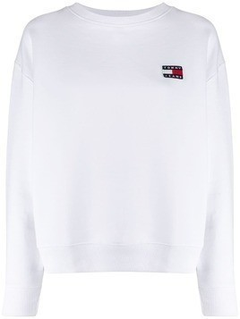 Tommy Jeans embroidered logo sweater - White