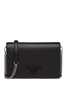 Prada lettering logo mini bag - Black