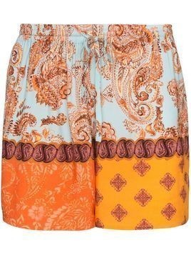 Esteban Cortazar paisley-print bermuda shorts - Orange