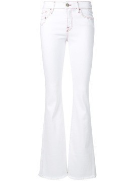 Don't Cry classic bell-bottom jeans - White