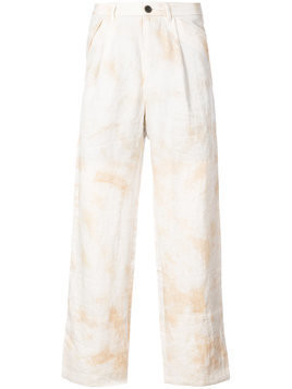 Individual Sentiments tie dye trousers - White