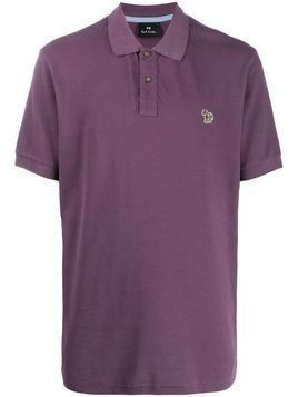 PS Paul Smith embroidered logo polo shirt - Purple