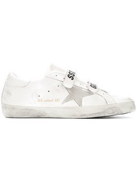 Golden Goose star embellished sneakers - White