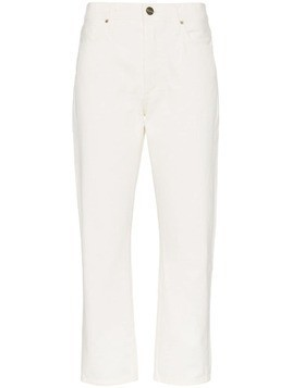 Goldsign pearly white the low slung with clean set of pockets jeans - NEUTRALS
