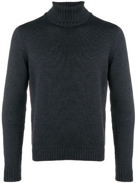 Zanone knitted roll neck jumper - Grey