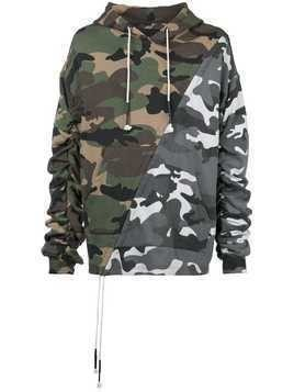 Mostly Heard Rarely Seen mixed camouflage hoodie - Green