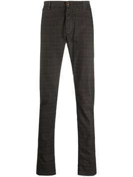 Trussardi Jeans checked slim-fit trousers - Brown