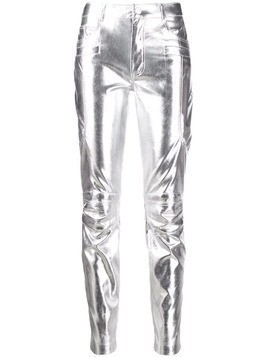 Pinko slim metallic trousers - SILVER