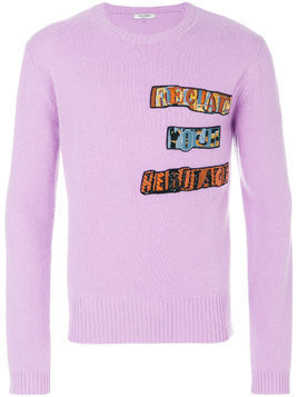 Valentino Jamie Reid patch appliqué sweater - Pink