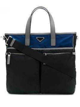 Prada two-toned briefcase - Black
