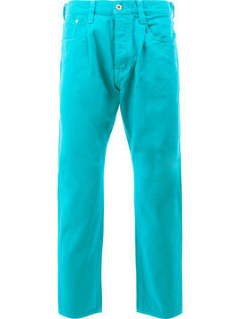 Ganryu Comme Des Garcons straight trousers - Blue
