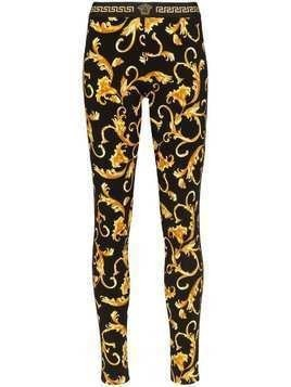 Versace baroque print leggings - Black