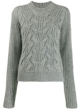 Helmut Lang cable knit jumper - Grey