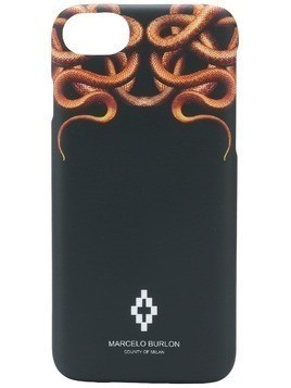 Marcelo Burlon County Of Milan Snakes iPhone 8 case - Black