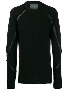 10Sei0otto long-sleeve fitted sweater - Black