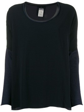 Kristensen Du Nord two-tone knitted top - Blue