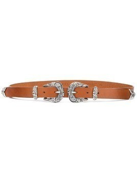 Orciani double buckle western belt - Brown