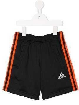 Adidas Kids Football 3-Stripes shorts - Black