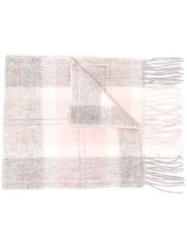 Barbour two-tone fringed scarf - PINK