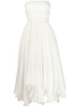 Parlor strapless bead-embellished dress - White