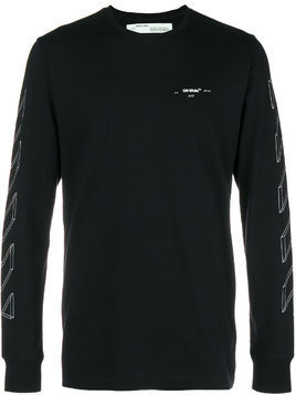 Off-White line print sweatshirt - Black