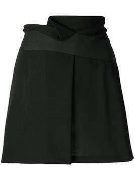 Giorgio Armani Pre-Owned folded front short skirt - Black