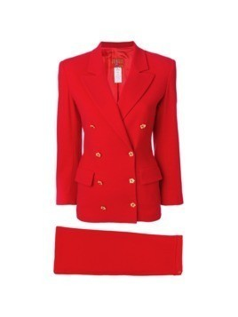Kenzo Vintage two-piece skirt suit - Red