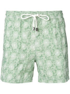 Borrelli patterned swimming trunks - Green