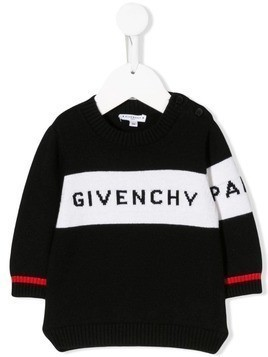 Givenchy Kids branded knitted top - Black