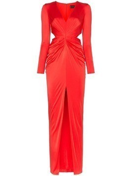 Haney Erin deep-V cut-out maxi dress - Red
