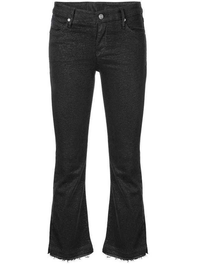 RtA cropped dotted jeans - Black