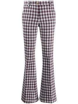 Hilfiger Collection plaid flared trousers - Blue
