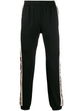 Gucci logo stripe track pants - Black