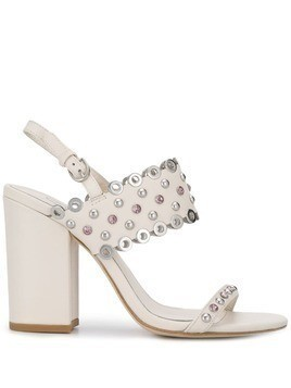 Ash Lucy studded sandals - White