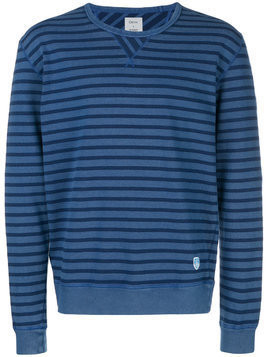 Closed striped fitted sweater - Blue