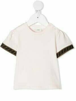 Fendi Kids FF trim T-shirt - PINK