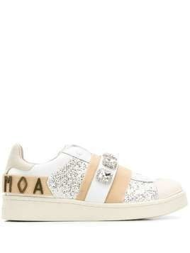 Moa Master Of Arts lace detail sneakers - White