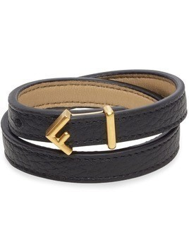 Fendi logo wrap bracelet - Black