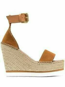 See by Chloé suede wedge sandals - Brown
