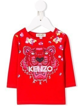 Kenzo Kids embroidered tiger floral top