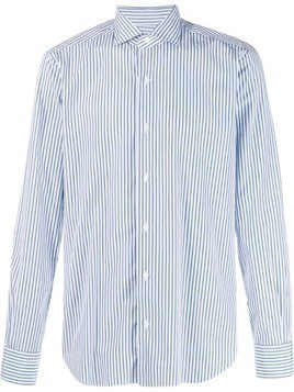 Barba striped slim-fit shirt - Blue