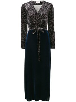 Daniela Pancheri leopard wrap dress - Blue